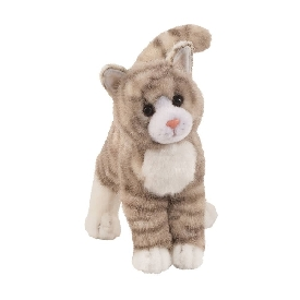 Zipper gray tabby cat doll