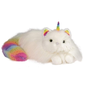 Ziggy caticorn rainbow fuzzle doll