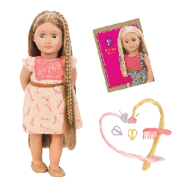Hair Grow Doll, Light Brown - Portia