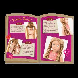Hair grow doll, light brown - portia
