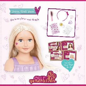 Doll bust (caucasian, blonde) - trista