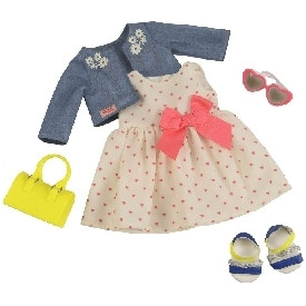 Deluxe dress outfit - heartprint