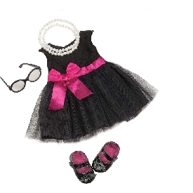 Deluxe dress outfit - audrey dress & pearls