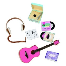 Retro music accessories set