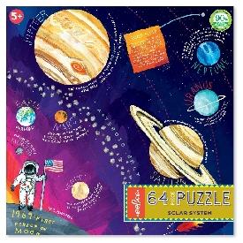 จิ๊กซอว์ 64 ชิ้น ลาย solar system