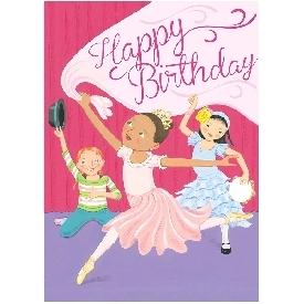Eeboo birthday cards - dancing girls