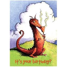 Eeboo birthday cards - sassy dragon