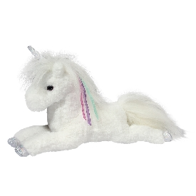 Thea White Unicorn Doll