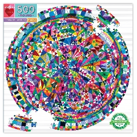 Triangle pattern 500 pc round puzzle