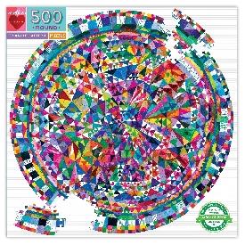 จิ๊กซอว์แบบวงกลม รูปสามเหลี่ยมแบบต่างๆ 500 ชิ้น