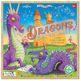 Dragons slips and ladders board game