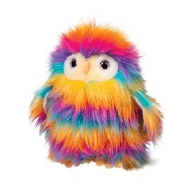 Izzy rainbow owl fur fuzzle doll
