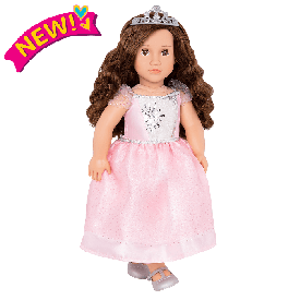 Doll with ballroom gown & tiara - amina