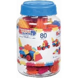 Bristle blocks in jar - 80 pcs.