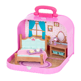 Master bedroom playset in carry case