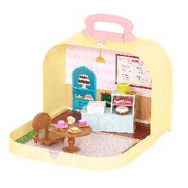 Pastry shop playset in carry case