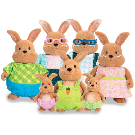 Rabbit family set w/ grandparents
