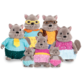 Squirrel family set w/ grandparents