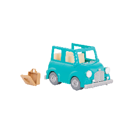 Li'l woodzeez blue car w/ suitcase