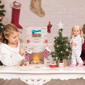 ชุดอุปกรณ์สำหรับตกแต่งในวันคริสมาสสำหรับตุ๊กตา