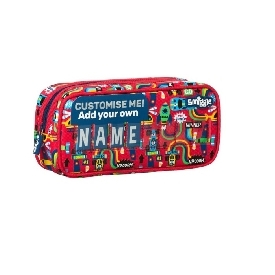 Smiggle wink teeny tiny id cruiser pencil case - red