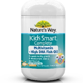 Nature's way kids smart complete multivitamin+high dha fish oil