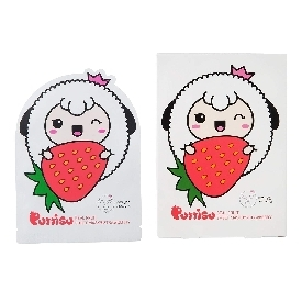 Puttisu real fruits sheet mask #strawberry (5pc)