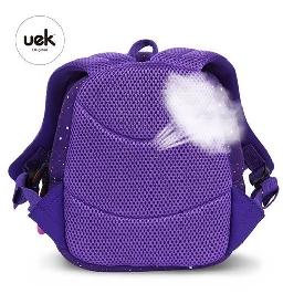 Uek กระเป๋าลายจรวด สีม่วง/ชมพู - s