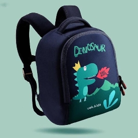 Uek - black dino backpack
