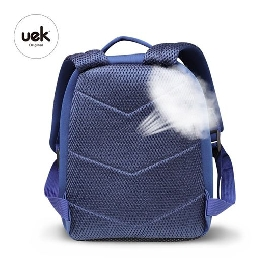 Uek - blue dino backpack  (l)