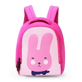Uek - pink rabbit backpack  (l)