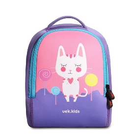 Uek - pink cat backpack  (s)