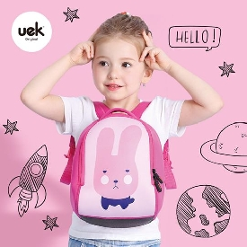 Uek - pink rabbit backpack  (s)