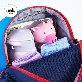 Uek 3d school bag - airplane blue