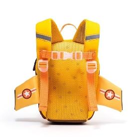 Uek 3d school bag - airplane yellow