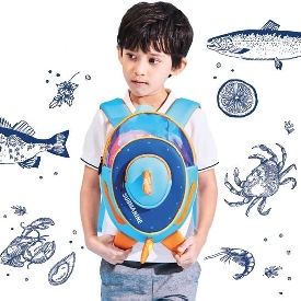 3d school bag submarine blue