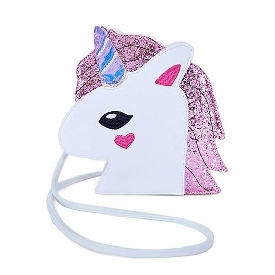 Uek crossbody bag unicorn - pink horn