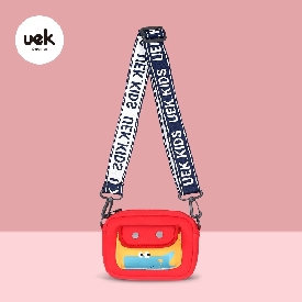 Uek crossbody bag satchel - dino red