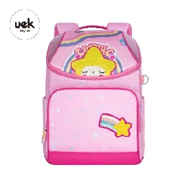 Dream kids school backpack - fancy star pink