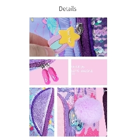 Dream kids school backpack - sweet purple