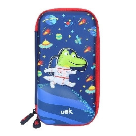 Uek pencil case m - crocodile astronaut