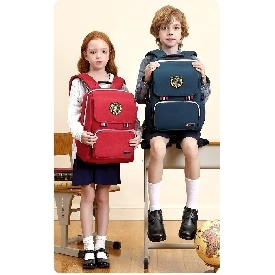 School backpack british style - blue