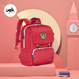School backpack british style - red