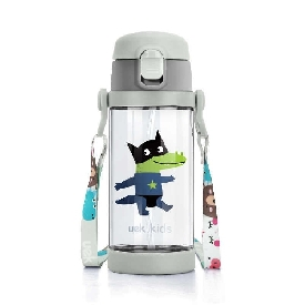 UEK Tritan Water Bottle 2 in 1 - Crocodile