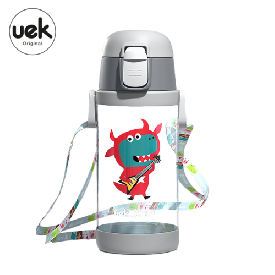 Uek tritan water bottle 2 in 1 - dino
