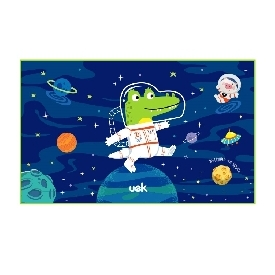 Uek hooded towel - astronaut blue