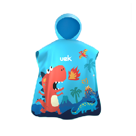 Uek hooded towel - dino blue