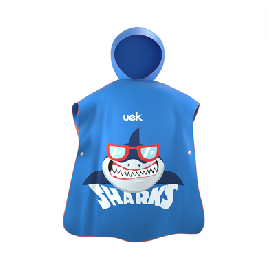 Uek hooded towel - shark blue