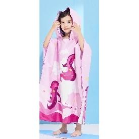 Uek hooded towel - unicorn purple