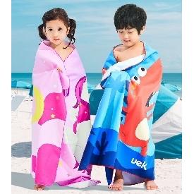 Uek towel - dino blue
